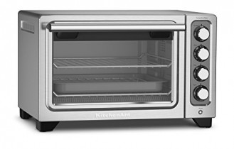 KitchenAid KCO253CU 12-Inch Compact Convection Countertop Oven – Contour Silver
